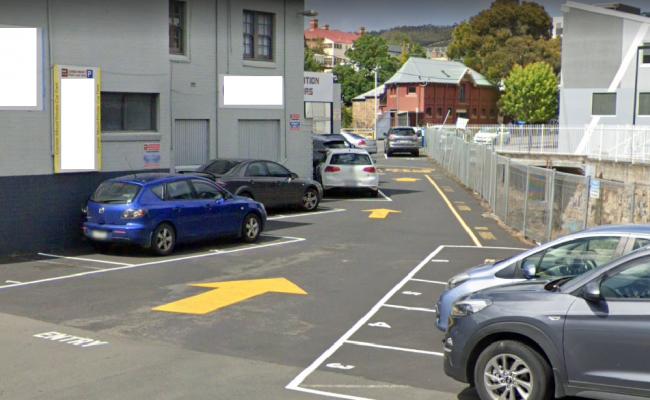 Outdoor lot parking on Barrack Street in Hobart Tasmania