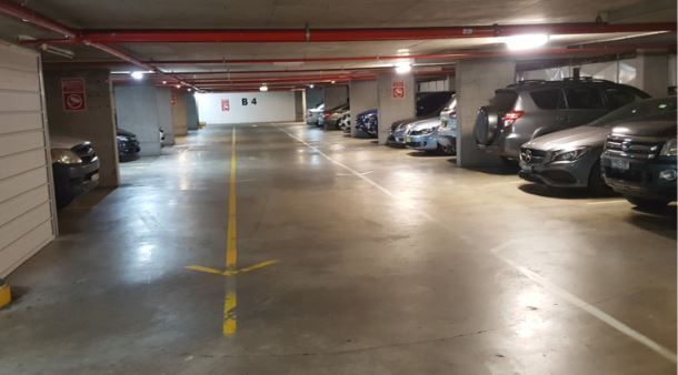 High security underground parking Bayswater Rd Potts Point