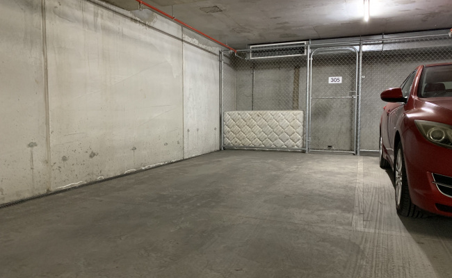Available now, undercover secure parking with storage area