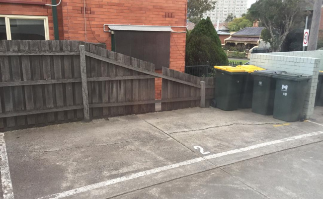 Outdoor lot parking on Brougham Street in North Melbourne Victoria