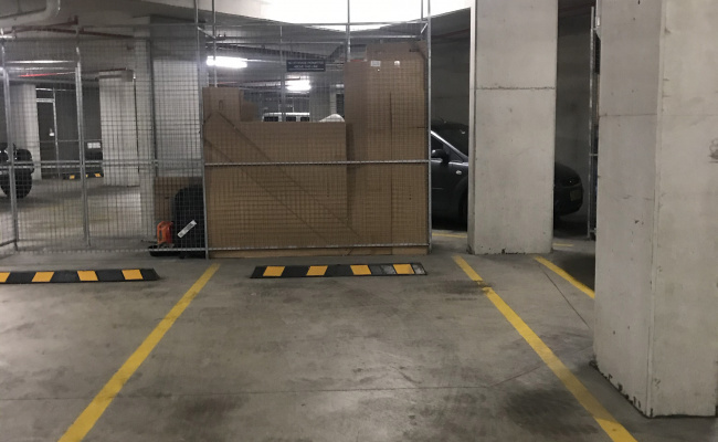 Undercover parking on Brushbox Street in Sydney Olympic Park New South Wales