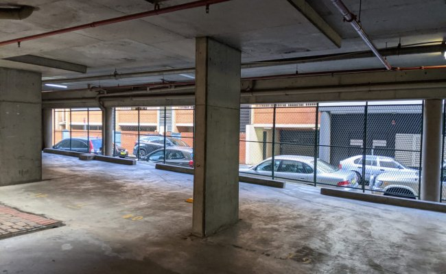 Indoor lot parking on Bunn Street in Sydney New South Wales