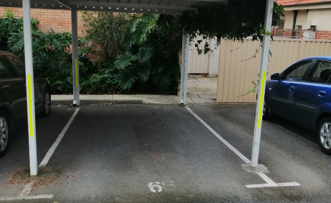 Carport parking on Cambridge Street in West Leederville Western Australia