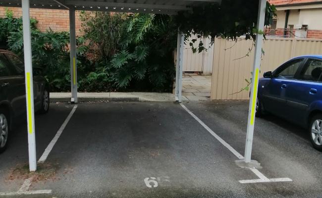 Carport parking on Cambridge Street in West Leederville Western Australia