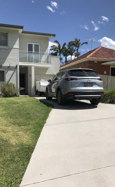 Driveway parking on Caronia Avenue in Cronulla NSW