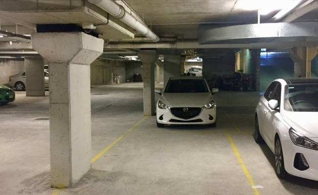 Indoor lot parking on Chapel Lane in Alexandria
