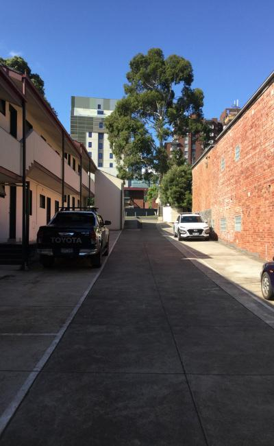 Driveway parking on Chapman Street in North Melbourne Victoria