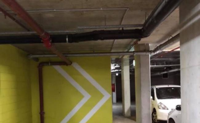 Secure underground parking lot