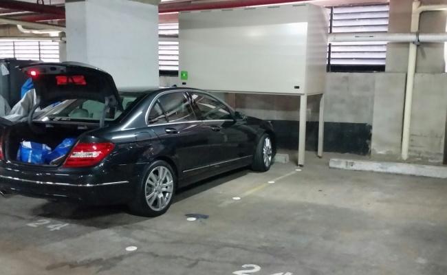 Undercover parking on Cowper Wharf Roadway in Woolloomooloo