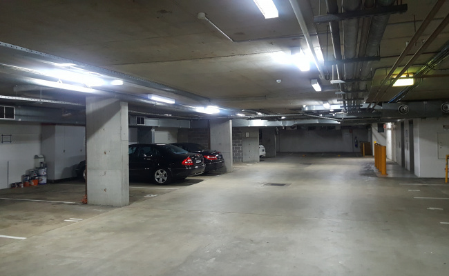 Indoor lot parking on Cumberland Street in The Rocks