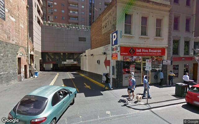 Undercover parking on Exhibition Street in Melbourne Victoria