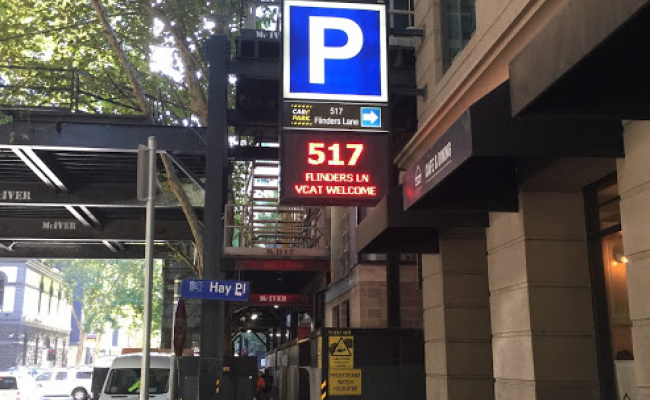 Indoor lot parking on Flinders Lane in Melbourne Victoria