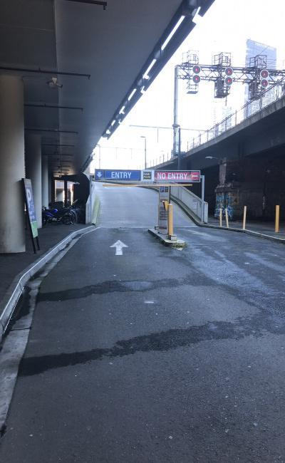 Indoor lot parking on Flinders Street in Melbourne VIC