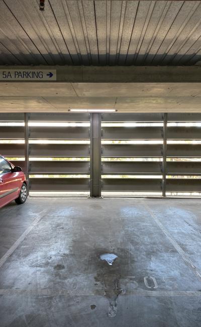Indoor lot parking on Flinders Street in Melbourne Victoria 3000
