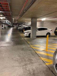 Secure indoor parking lot in Marina Square
