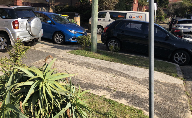 Outside parking on Frederick Street in North Bondi NSW