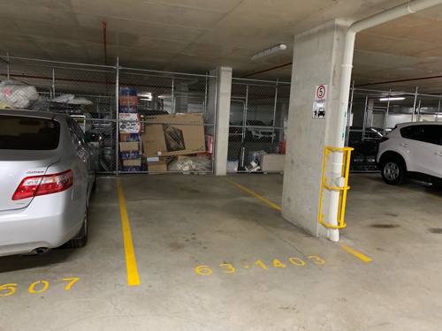 Indoor lot parking on Gauthorpe Street in Rhodes New South Wales