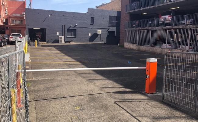 Outdoor lot parking on George Street in Parramatta