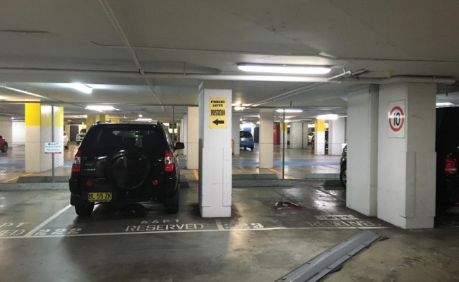 Indoor lot parking on George Street in Sydney