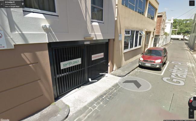 Indoor lot parking on Grattan Street in Carlton VIC