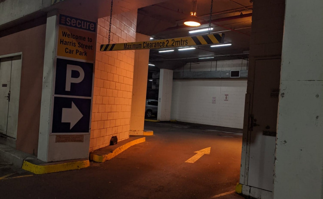 Indoor lot parking on Harris Street in Pyrmont New South Wales