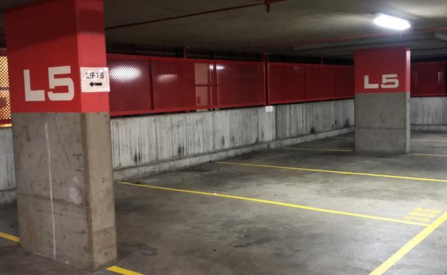 Indoor lot parking on Harris Street in Pyrmont