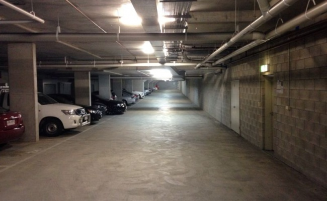 Indoor lot parking on James Street in Brisbane