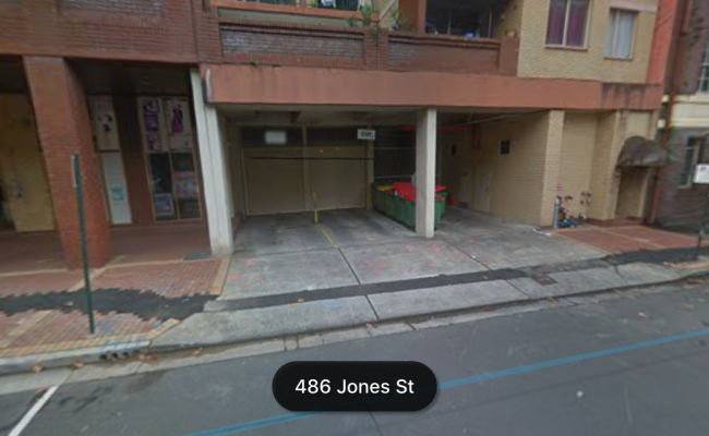 Lock up garage parking on Jones Street in Ultimo NSW