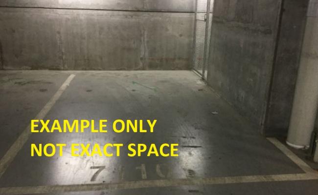 Indoor lot parking on La Trobe Street in Melbourne Victoria