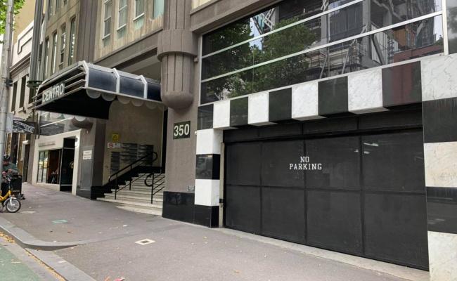 Indoor lot parking on La Trobe Street in Melbourne Victoria 3000
