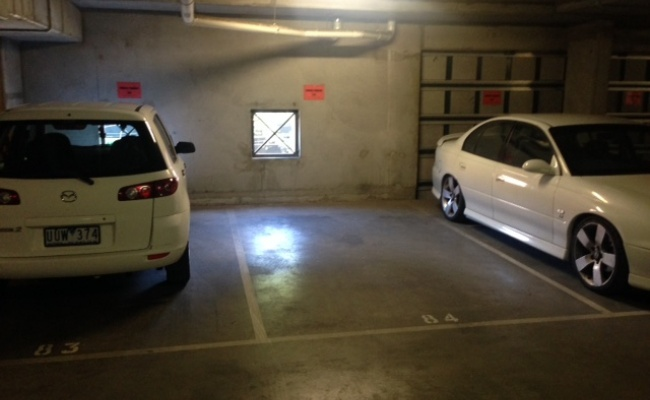 Indoor lot parking on La Trobe Street in Melbourne