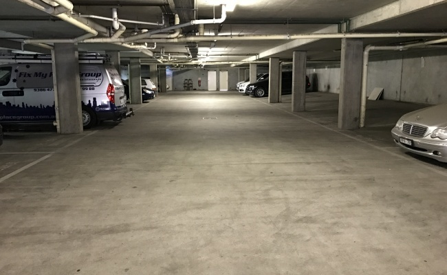 Indoor lot parking on Lansdowne Place in Carlton Victoria