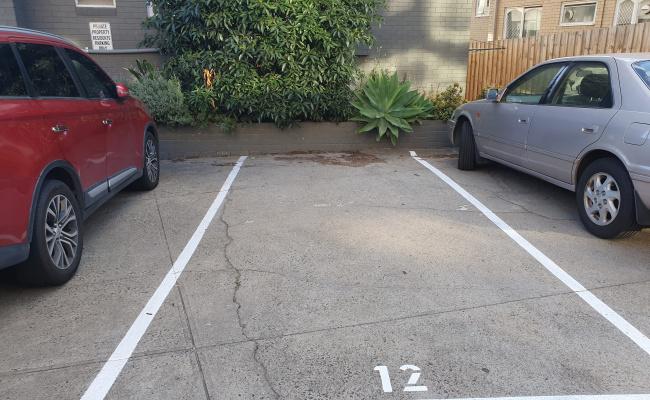 Outside parking on Lennon St in Parkville