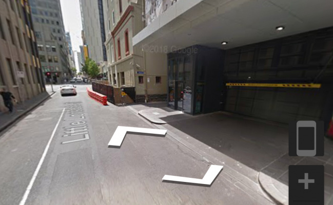 Indoor lot parking on Little Lonsdale Street in Melbourne VIC