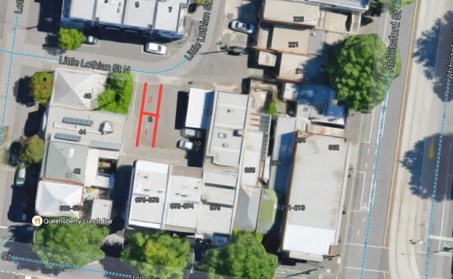 Outdoor lot parking on Little Lothian Street North in North Melbourne