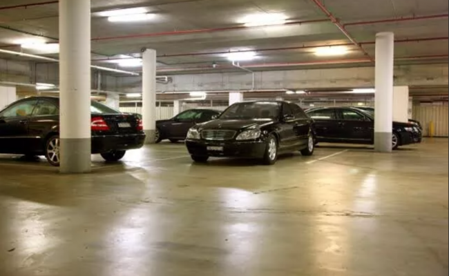 Indoor lot parking on Liverpool Street in Sydney Central Business District New South Wales