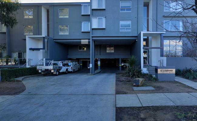 Lock up garage parking on Lowanna Street in Braddon Australian Capital Territory