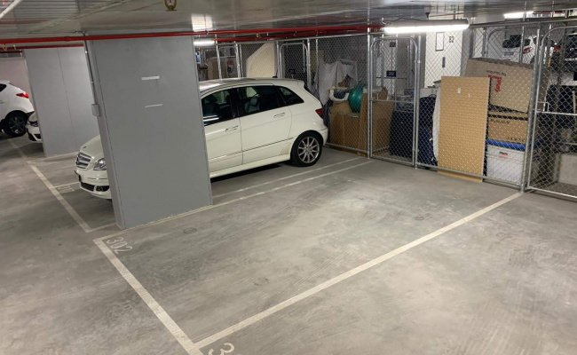 Indoor lot parking on Lygon Street in Brunswick East