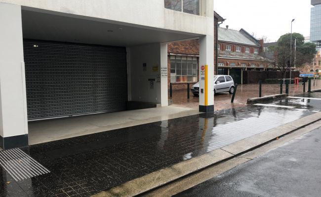 Lock up garage parking on Marsden Street in Parramatta New South Wales