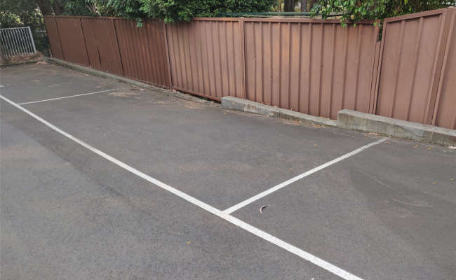 Outdoor lot parking on Meadow Crescent in Meadowbank NSW