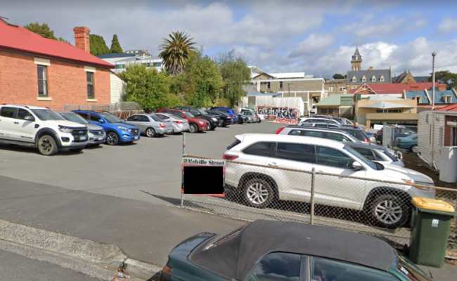 Outdoor lot parking on Melville Street in Hobart Tasmania