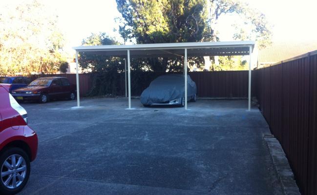 Undercover parking on Milton St in Ashfield NSW