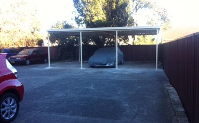 Undercover parking on Milton Street in Ashfield