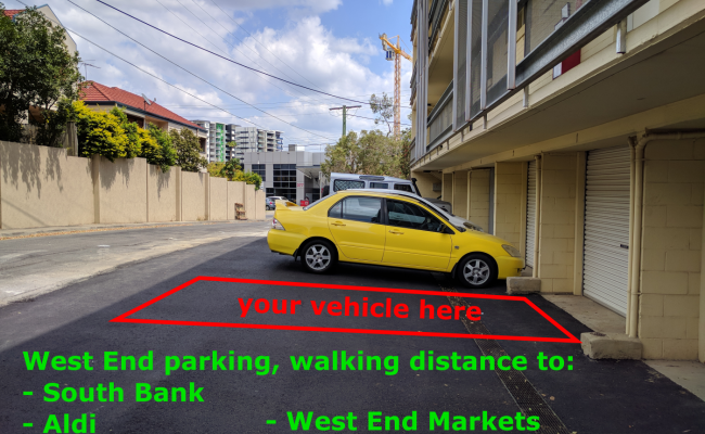 Driveway parking on Montague Road in West End QLD