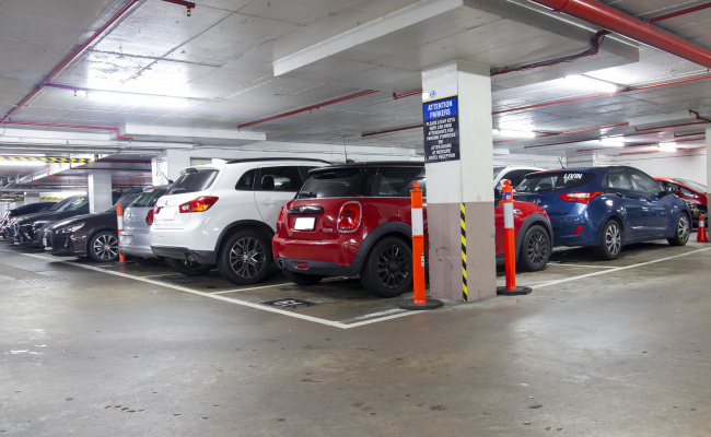 Indoor lot parking on North Quay in Brisbane City
