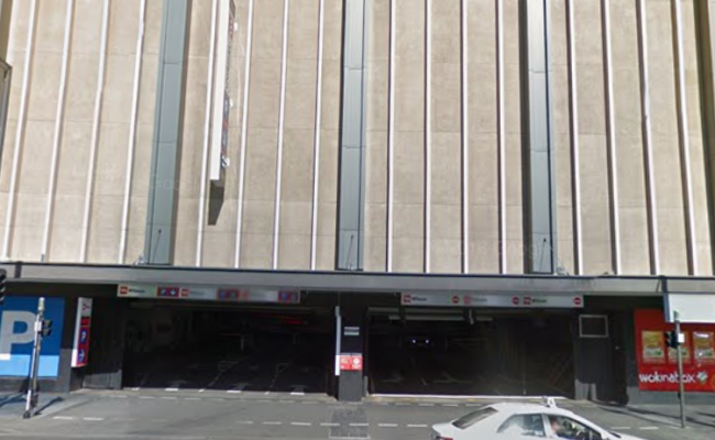 Indoor lot parking on North Terrace in Adelaide