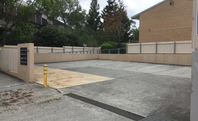 Outdoor lot parking on OKeefe Street in Woolloongabba