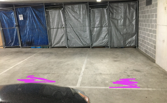 Secure remote access street level car space for lease
