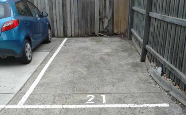 Outdoor lot parking on Pakington Street in Saint Kilda