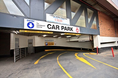 Undercover parking on Paramount Carpark on Exhibition Street in Exhibition Street